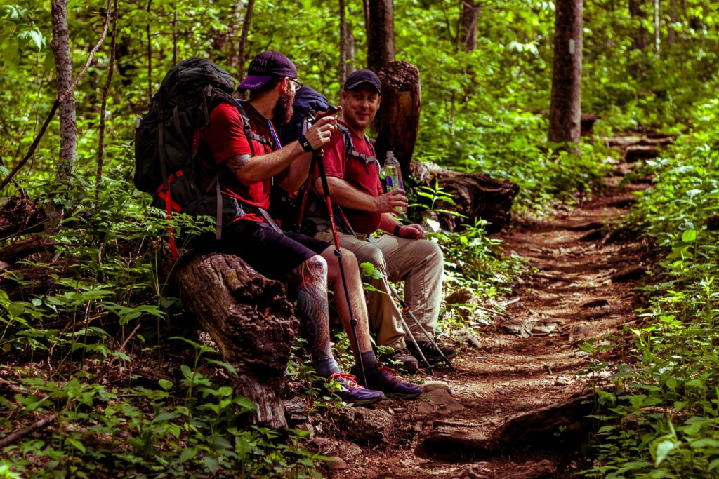 Relaxing on the Appalachian Trail